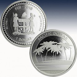 "1 x 1oz Silber 1$ Fiji ""Pacific..."