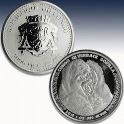 1 x 5000 CFA Silbermünze Republik...