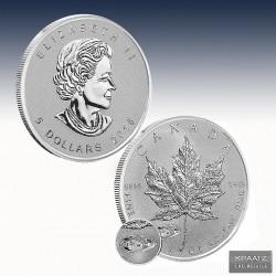 """1 x 1 Oz Silber 5$  Canada """"Maple..."""