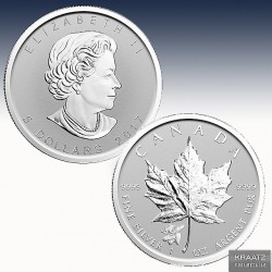 """1 x 1 Oz Silber 5$ Maple Leaf """"Privy..."""