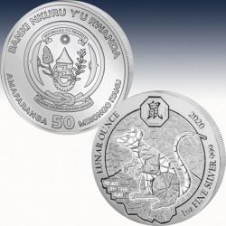 1 x 1 oz Silbermünze 50 RWF Ruanda...
