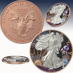 "1 x 1oz Silber 1$ USA ""American Eagle..."