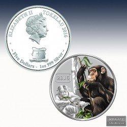 """1 x 1 Oz Silber Tokelau 5$ """"Jahr des..."""