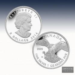 1 x 1 oz  Silbermünze 5$ Canada...