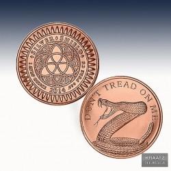 1 x 1 oz Copper Round Silver Shield...