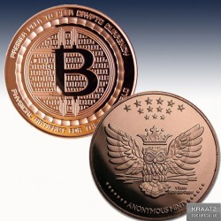 "1 x 1 Oz Copper Round ""Bitcoin..."