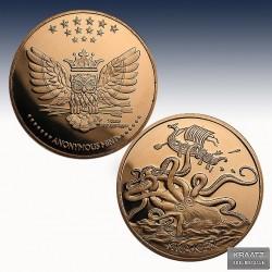 1 x 1oz Copperround Anonymous Mint...