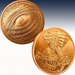 1 x 1 oz Copperround Golden State...