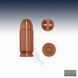 """1 x 1 Oz Copper """"Bullet .45 Caliber ACP"""""""