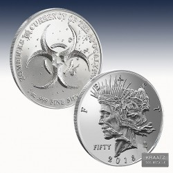 "1 x 1 Oz Silverround ""Zombucks® Feast..."