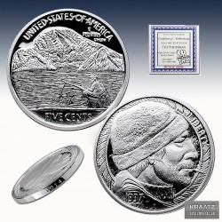 1 x 1 oz Silverround Hobo Nickel...