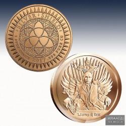 1 x 1 oz Copperround Silver Shield...