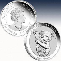 "1 x 1 Oz Silber 1$ Australien ""Koala..."