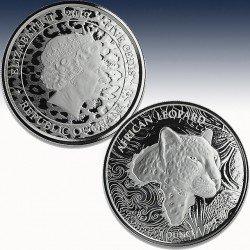 1 x 1 oz Silbermünze 5 Cedis Republic...