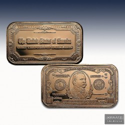 "1 x 1 Oz Copper Bar ""$1000 Grover..."