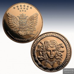 1 x 1 oz Copperround Anonymous Mint...