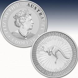 1 x 1 oz Silbermünze 1$ Australien...