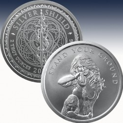 1 x 2 oz Silverround Silver Shield...
