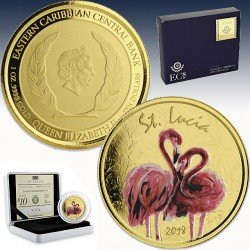 1 x 1 oz Goldmünze 10$ St. Lucia...