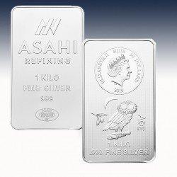 1 x 1000g Silber Münzbarren 50$ Niue...
