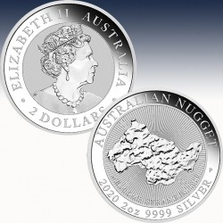 1 x 2 oz Silbermünze 2$ Australian...