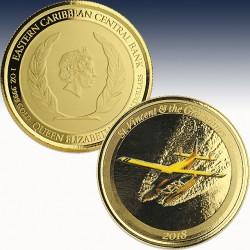 1 x 1 oz Goldmünze 10$ St. Vincent &...