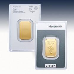 1 x 10 Gramm Goldbarren Heraeus...