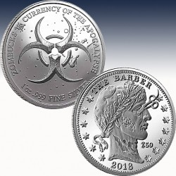 "1 x 1 Oz Silverround ""Zombucks™..."