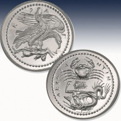 1 x 2 Oz Silverround Intaglio Mint...