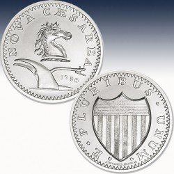 1 x 2 Oz Silverround Intaglio Mint...