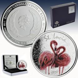 1 x 1 oz Silber 2$ St. Lucia...