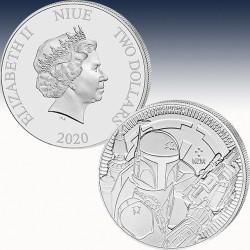 "1 x 1oz Silbermünze 1$ Niue ""STAR..."
