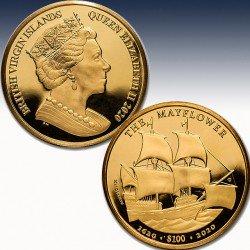 1 x 1 Oz Goldmünze 100$ British...