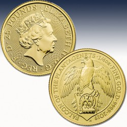1 x 1/4 Oz Gold 25 Pfd United Kingdom...