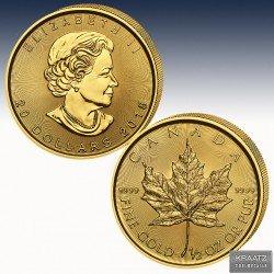 1 x 1/2 Oz Goldmünze 20$  Canada...