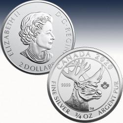 1 x 3/4oz Silbermünze 2$ Canada...