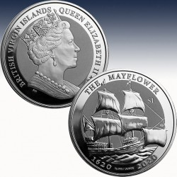 1 x 1 oz Silber 1$ British Virgin...