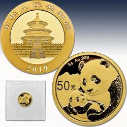 "1 x 3 Gramm Gold 50 Yuan ""China Panda..."