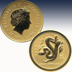 1 x 1/4 Oz Goldünze 25$ Australien...