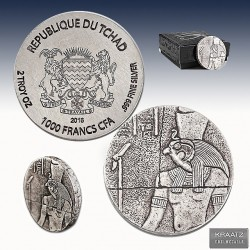 1 x 2 oz Silber 1.000 Francs Republic...