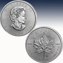"""1 x 1 oz Silbermünze 5$ Canada """"Maple..."""