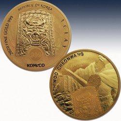 1 x 1 oz Goldmünze 1 Clay South Korea...