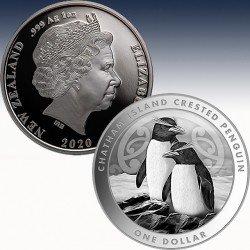 1 x 1 Oz Silbermünze 1$ New Zealand...