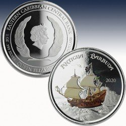 1 x 1 oz Silber 2$ Antigua & Barbuda...