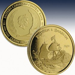 1 x 1 oz Goldmünze 10$ Antigua &...