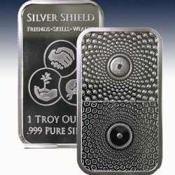 1 x 1 Oz Silverbar Silver Shield...
