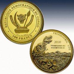 1 x 0,5 Gramm Goldmünze 100 FRA...