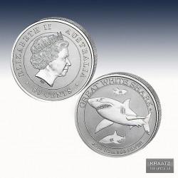 1 x 1/2 Oz Silber 50 cent Australian...