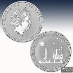 1 x 1/2 oz Silbermünze 50cent...