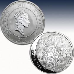 1 x 1 Oz Silbermünze 1$ Fiji Taku...